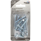 National 1/4 In. x 1-3/4 In. Zinc Carriage Bolt (12 Ct.) Image 2