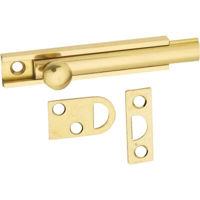 National Gallery Series 3 In. Polished Brass Door Surface Bolt