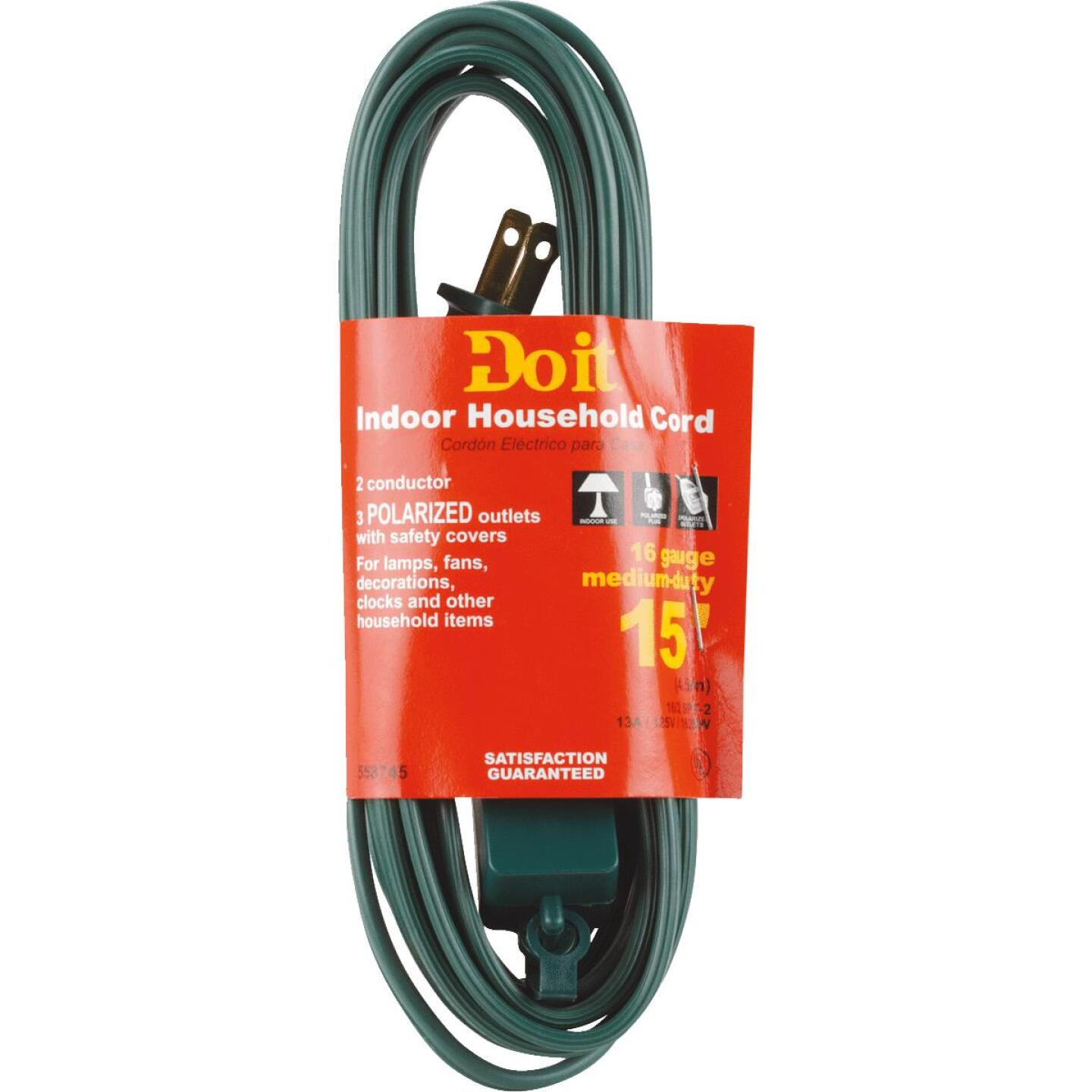 Do it 15 Ft. 16/2 Green Cube Tap Extension Cord Image 2