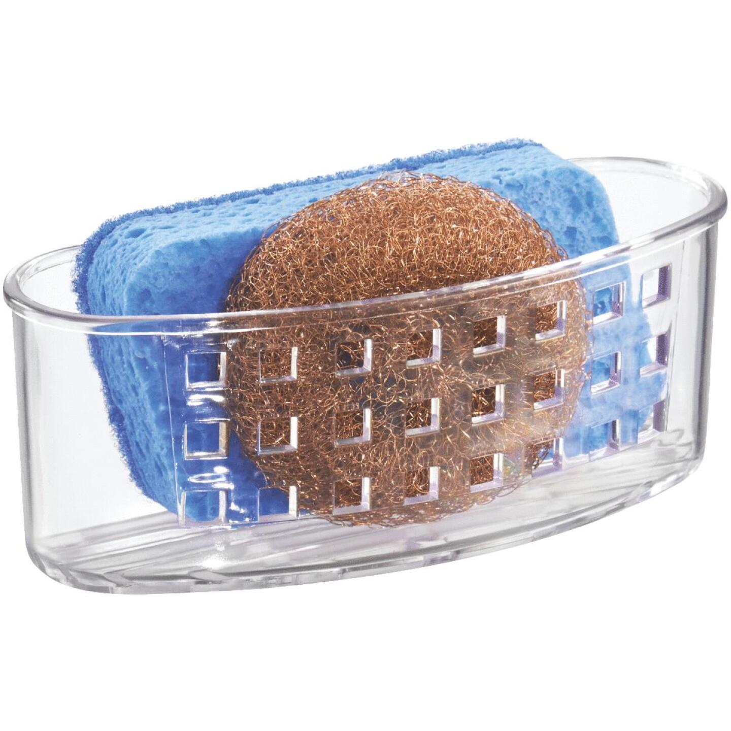 InterDesign Sinkworks Clear Suction Scrubber & Sponge Holder Image 2