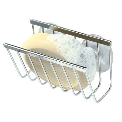 InterDesign Sinkworks Suction Soap & Sponge Holder